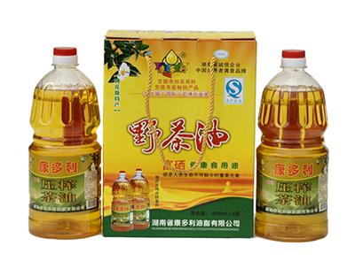 康多利富硒野茶油礼盒装1.8L×2