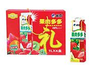 米奇果肉多多草莓混合果肉饮料1LX4盒