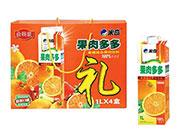米奇果肉多多蜜橙混合果肉饮料1LX4盒