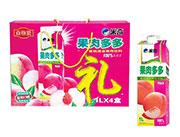 米奇果肉多多蜜桃混合果汁饮料1LX4盒