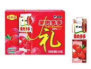 果肉多多山楂混合果肉饮料1LX4盒
