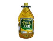 家代金银花100%压榨一级非转基因玉米油5L