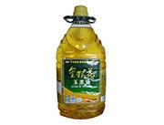 家代金银花100%压榨一级非转基因玉米油4L