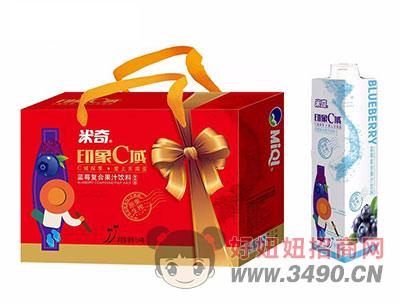 米奇印象C域蓝莓复合果汁饮料1L×4瓶