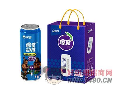蓝莓复合果汁490ml×8罐