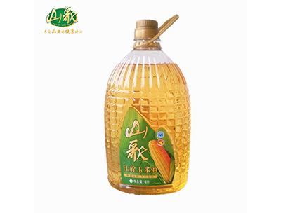 山歌压榨一级玉米油4L