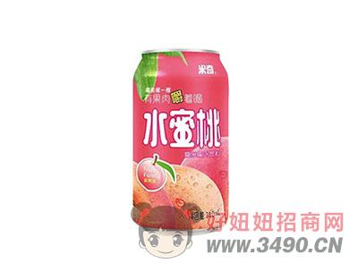 米奇水蜜桃�秃瞎�汁�料310ml×24罐