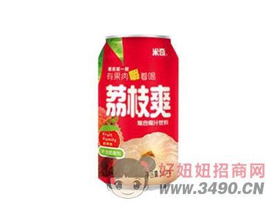 米奇荔枝�秃瞎�汁�料310ml×24罐