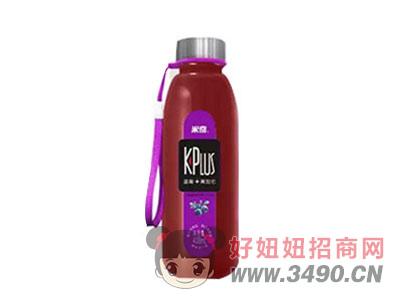 米奇蓝莓+黑加仑复合果汁饮料408ml×15瓶