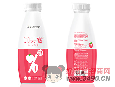 迈芙咖美滋草莓奶昔风味饮品450ml