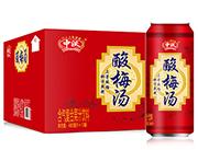 中沃酸梅汤含气复合果汁饮料480ml×12罐