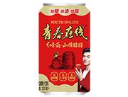青春在线红茶菌+山楂酵醋发酵果汁饮料330ml
