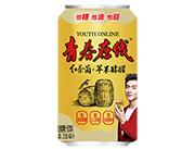 青春在线红茶菌+苹果酵醋发酵果汁饮料330ml