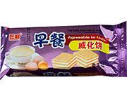 旺利早餐香芋威化�干袋�b