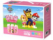 悠小君汪汪队瓶装益生菌草莓味营养酸奶饮品(侧礼盒)100ml×5瓶×6排