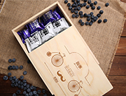 时尚木盒蓝莓果干