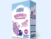爱幼唯酸奶果粒方蓝莓味