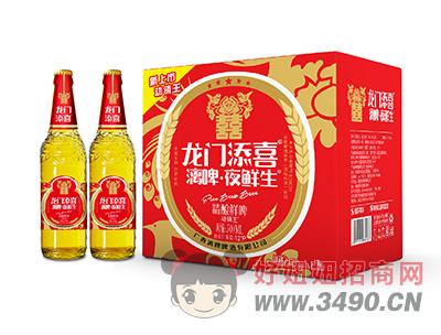 龙门添喜漓啤夜鲜生精酿鲜啤500mlX12瓶