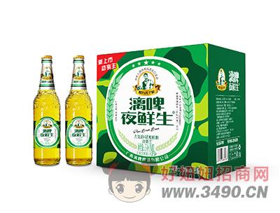 漓啤夜鲜生精酿鲜啤500mlX12瓶