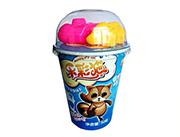 乐彩猫杯造型饼干牛奶味+多款玩具40g
