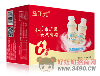 益正元乳酸菌340ml×12瓶普箱