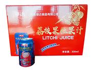 平治荔枝果粒果汁320ml礼盒