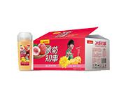 冰菊知事�秃瞎�汁�料冰菊+蜜桃+芝士�Y盒�b