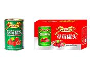 岫玉山草莓水果罐头425g×6罐