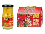 岫玉山黄桃水果罐头245g×8罐
