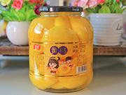 蒙康黄桃水果罐头1.5kg