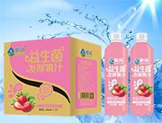 奥尚草莓风味益生菌发酵复合果汁饮料480ml×15瓶