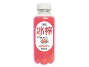 冰榨草莓味益生菌复合果汁饮料410ml