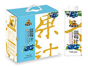 金果郎生榨蓝莓汁饮料1000ml×6瓶
