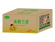 喜太郎冰糖雪梨果味饮料1L×12瓶