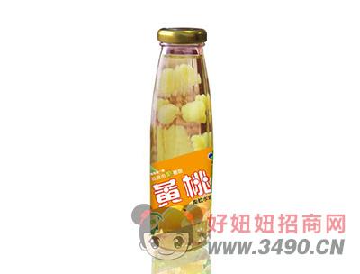 米奇黄桃果粒水果饮料265ml