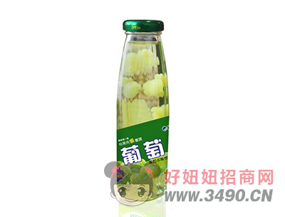 米奇葡萄果粒水果饮料265ml