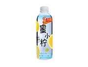 蜜小柠水蜜桃味果味饮料500ml(正面)
