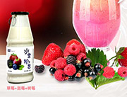 颖润混合水果奶昔饮品