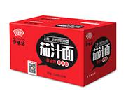 华味坊茄汁面蒸熟面116g×12桶