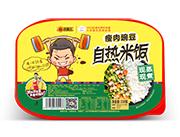 旺福王�C肉豌豆现蒸现煮自热米饭330g