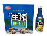 品优园果肉型生榨椰子汁1.25L×6瓶