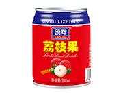 领露荔枝果果粒果味饮料240ml