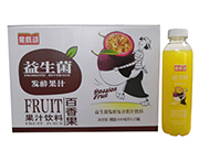 星启动益生菌发酵百香果果汁饮料500ml×15瓶