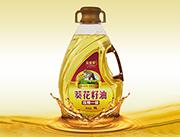 玉金香压榨一级葵花籽油5L异形桶