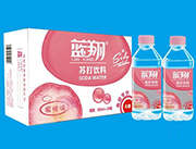 蓝翔蜜桃味无糖苏打饮料350ml×24瓶(超市专供)