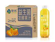奥尚芒果风味益生菌发酵复合果汁饮品1.25L×6瓶