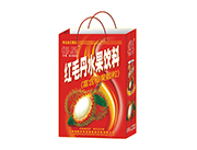 椰星红毛丹水果饮料手提袋