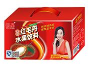 椰星果粒红毛丹水果饮料礼盒