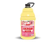 令德堂冷榨水蜜桃果肉果汁�料2.5L