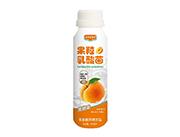 果然好菌派黄桃味果粒乳酸菌饮品310ml瓶装